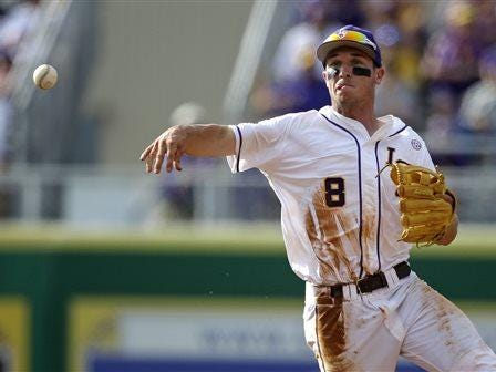 LSU shortstop Alex Bregman (8) was drafted by the Houston Astros.