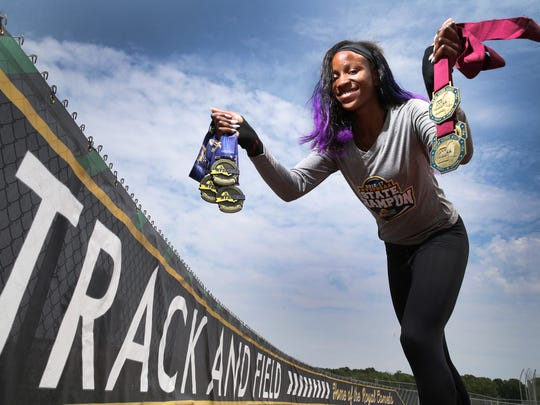 Lanae-Tava Thomas, 2017 Girls Track and Field Athlete of the Year.