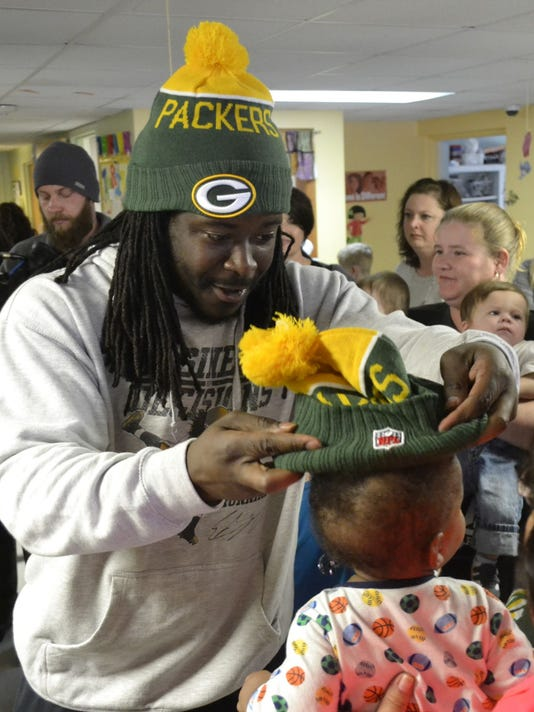 Eddie Lacy Freedom House photo 1
