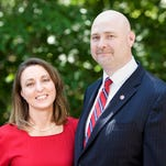 Jayson Boyers was named the 10th Cleary University president, effective Oct. 1. He is pictured here with his wife, Mandy.