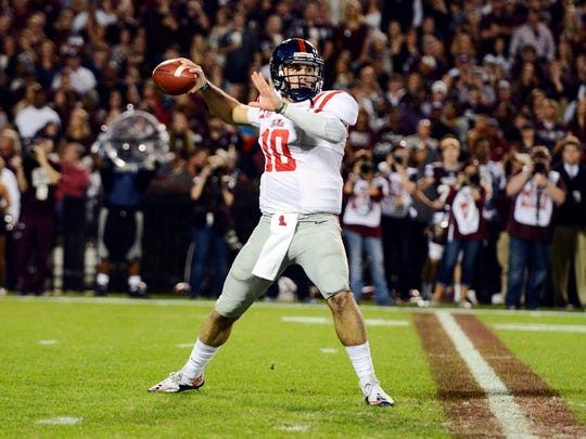 Ole Miss quarterback Chad Kelly got the Rebels off to a hot start Saturday while setting a program record.
