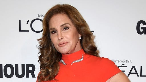 FILE - In this Nov. 14, 2016 file photo, Caitlyn Jenner arrives at the Glamour Women of the Year Awards in Los Angeles. Jenner is taking President Donald Trump to task for his administration's reversal of a directive on transgender access to public school bathrooms. Jenner addressed Trump in a video posted Thursday, Feb. 23, 2017, on Twitter.