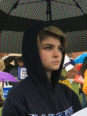 Ollie Neville, 11, attended a March for Our Lives rally