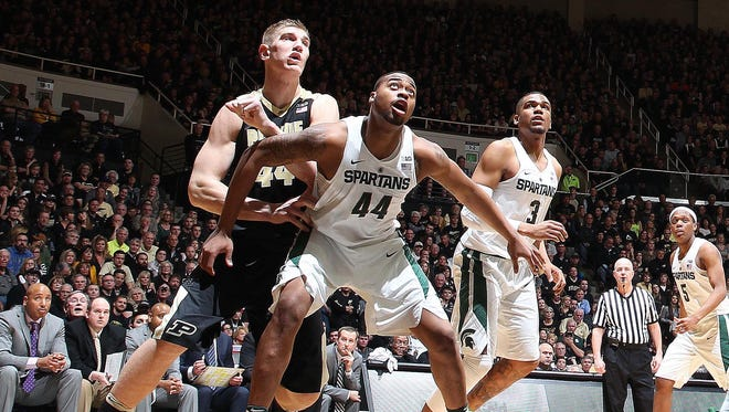 Michigan State and Purdue appear to be the Big Ten's two best teams. Nick Ward, right, and Isaac Haas, left, will only meet once in the regular season this year, Feb. 10 at Breslin Center.