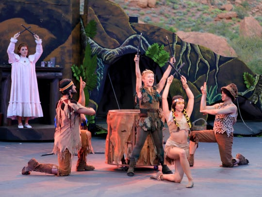 """Lost boys, the Neverland tribe and the Darling children are all on hand for Tuacahn's 2016 production of """"Peter Pan."""""""