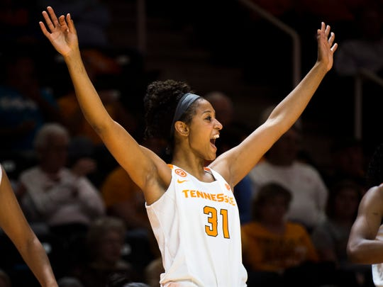Lady Vols rout Tennessee State, 86-36