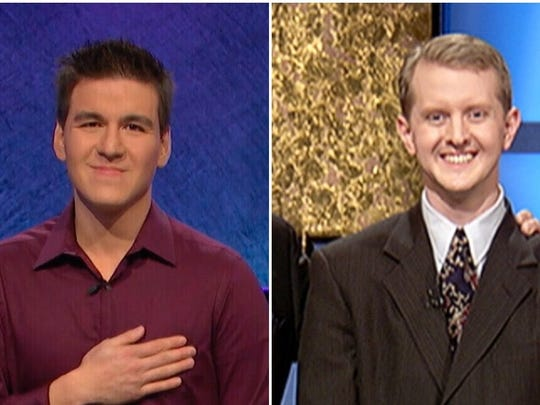 James Holzhauer, Ken Jennings (AP Photo, Getty Images)