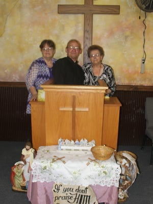 The ministry team at Meadow Hill Christian Fellowship are, from left: Carol Traver, Larry Buswell and Dianne Buswell.