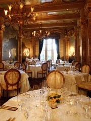 A section of  Mar-a-Lago's antique-filled private dining room.