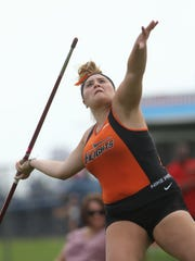 Kassie Ketcho, of Hasbrouck Heights, competes in the