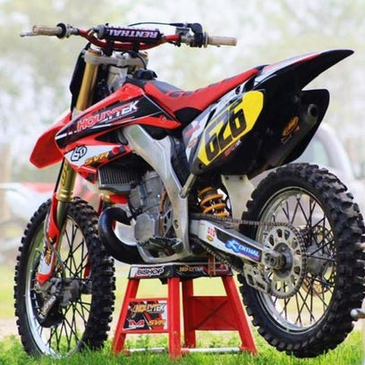 Picture of a dirt bike stolen March 19 from Fairfield