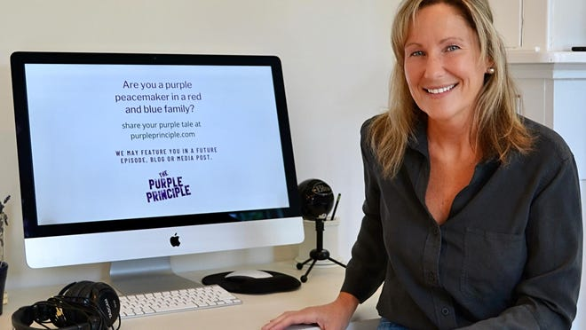 """Janice Murphy, director of marketing and senior editor of The Purple Principle, said the podcasts offer interesting perspectives from their guests """"working in bipartisan and non-partisan ways."""""""