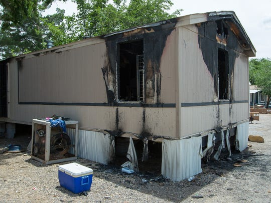 Pictured is the damages left behind after a fire broke