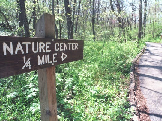 The Springfield Nature Center has 2.8 miles of hiking