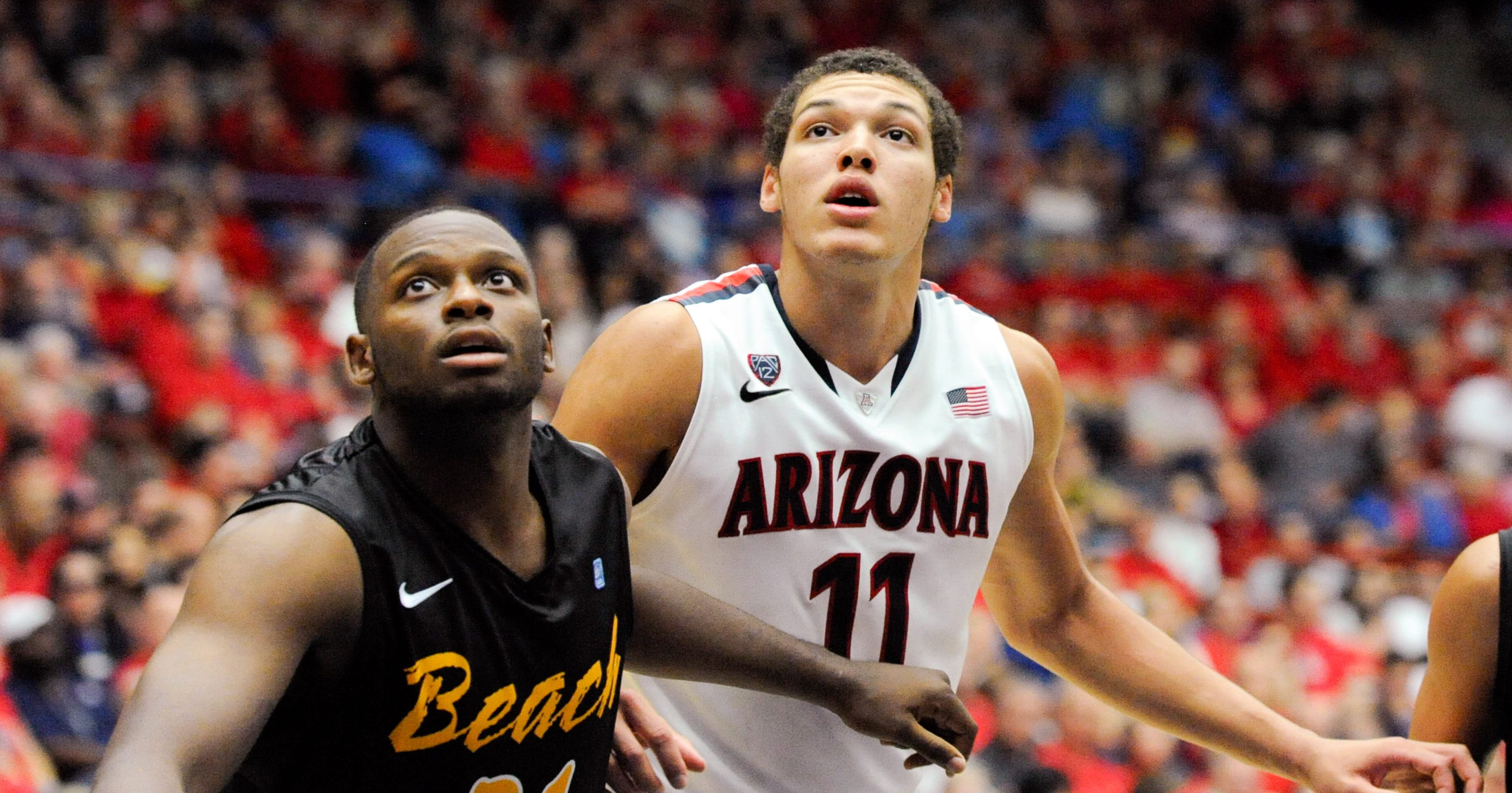 wholesale dealer 6fb72 8aaf3 Aaron Gordon, No. 5 Arizona roll over Long Beach State