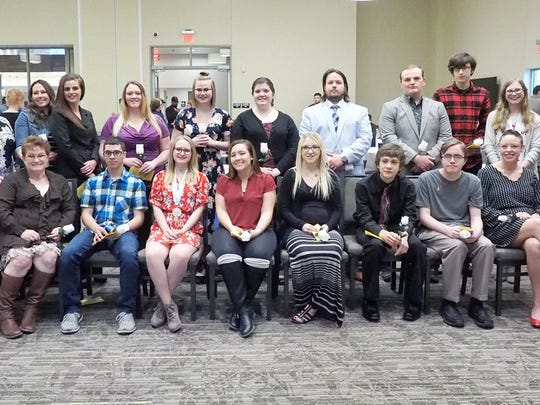 Terra State Community College's Alpha Mu Epsilon chapter of Phi Theta Kappa honor society inducted 37 students this week.