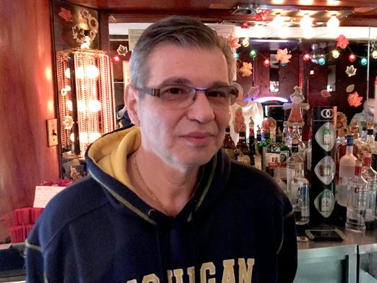 Temple Bar owner George Boukas inside his Detroit bar