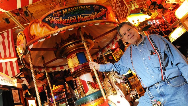 Marvin Yagoda, owner of Marvin's Marvelous Mechanical Museum. stands by his carousel on Monday, Jan.5, 2009.