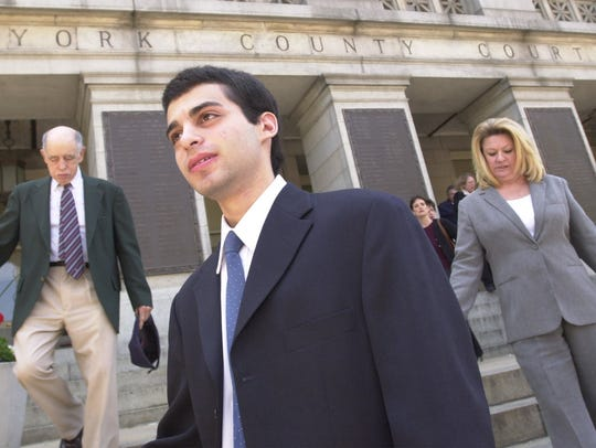Zachary Witman leaves the York County Courthouse on