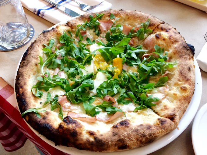 The Breakfast Pizza at the Pastaria Restaurant.