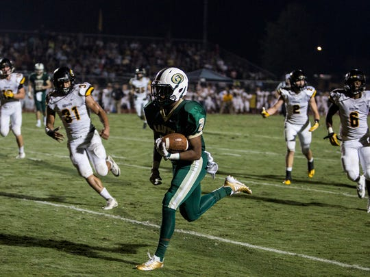 September 15, 2017 - Briarcrest's Jabari Small runs