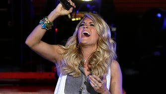 Carrie Underwood performs at the Marcus Amphitheater at Summerfest on July 2.