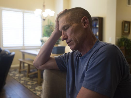 Jeff Gillespie sits at his home in Timnath on Tuesday,
