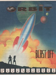 The first, unnumbered issue of Orbit, with artwork
