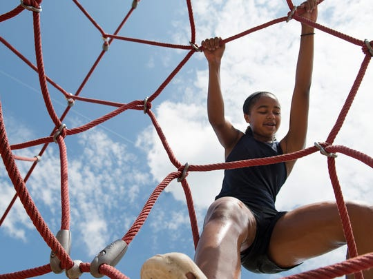 """Serena """"Mac"""" Williams hangs out at the Broadrun Park playground on Tuesday, July 3, 2018."""