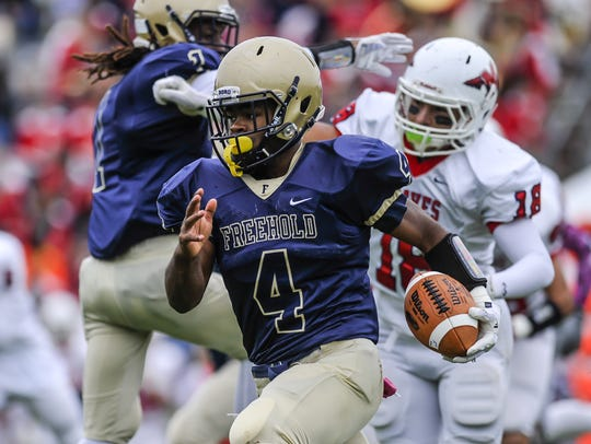 Freehold Borough's Ashante Worthy breaks free for extra