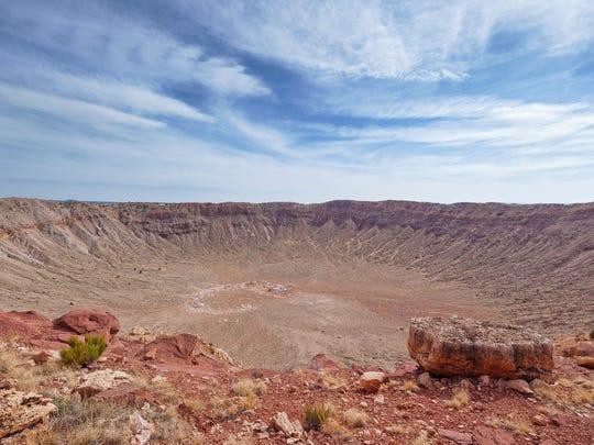 Meteor impact crater in Arizona, USA