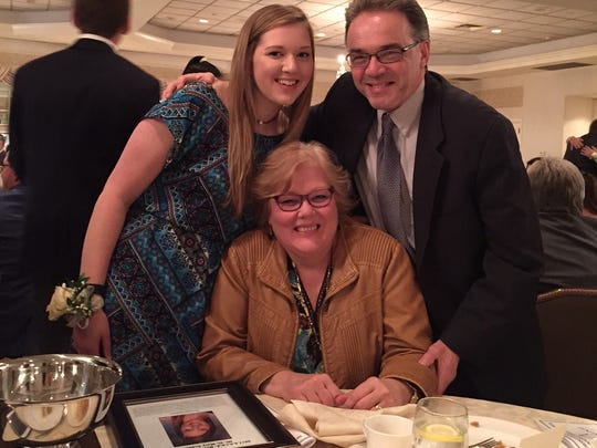 Victoria Gainey of Springfield earns Scholar-Athlete Award. Pictured with her parents Robert  and Karen Gainey.