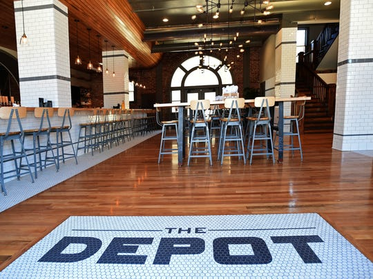 The Depot Craft Brewery Distillery on East Fourth Street is in a 100-year-old train station.