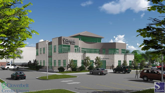 Renderings of the new Cloverbelt Credit Union building were released Thursday.