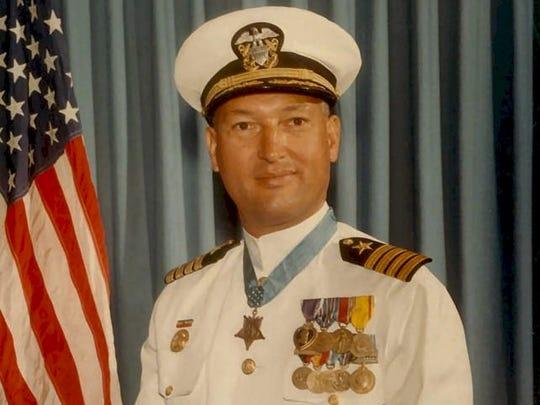 U.S. Navy Capt. William L. McGonagle, Medal of Honor recipient, Coachella Valley High School graduate.