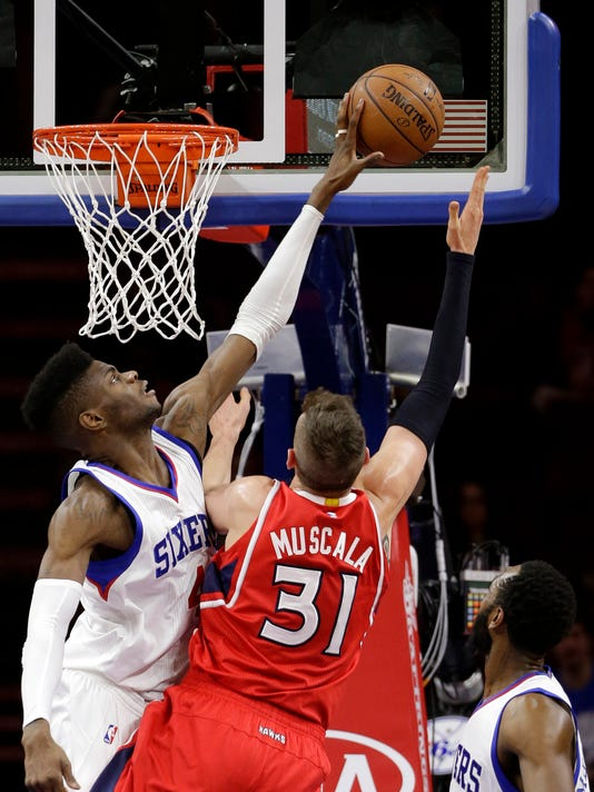 Nerlens Noel, Mike Muscala, Luc Mbah a Moute