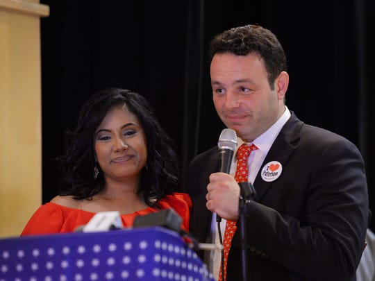 Paterson Mayor Andre Sayegh and First Lady Farhanna