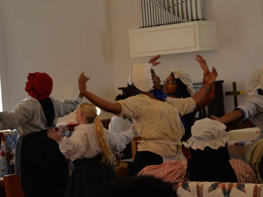 During the praise house service at Allen Chapel AME