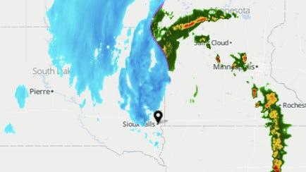 Radar as of 6:45 p.m.