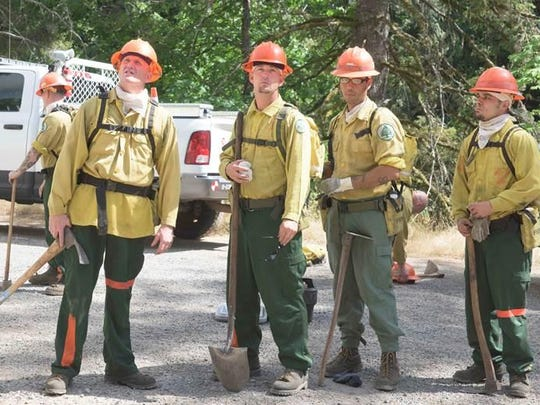 A wildfire was burning Saturday, July 4, along Highway 22 near Big Cliff Dam and Detroit Lake Dam.
