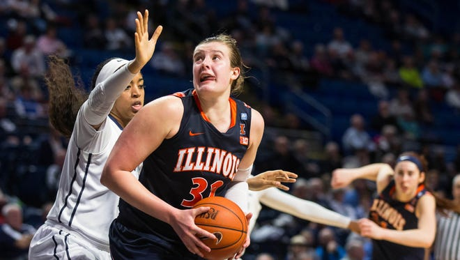 Chatrice White averaged 18.7 points per game and 9.3 rebounds per game in 2015-16 at Illinois.