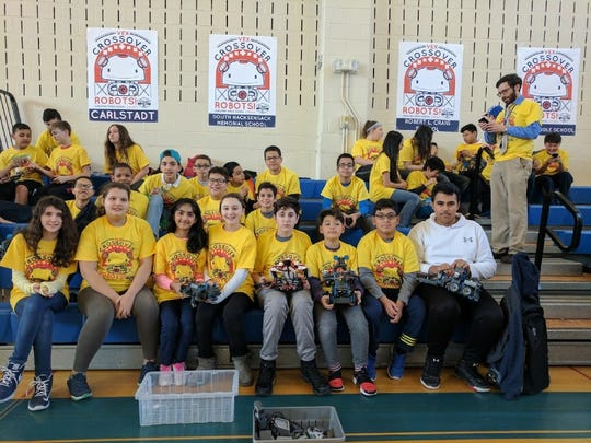 South Hackensack's robotics team has six girls participating after having none last year, according to team adviser Mike Hegewald. The team competed in the South Bergen Robotics Competition at Carlstadt Public School on March 29.