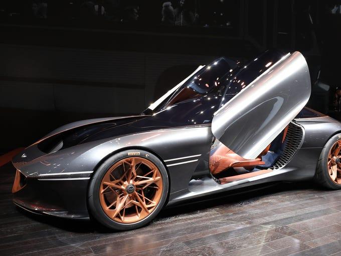 The Genesis Essentia concept car.