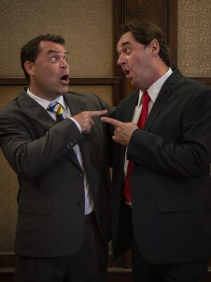 """Douglas Goodman, left, and Chaz Howard in """"Laughter on the 23rd Floor."""""""