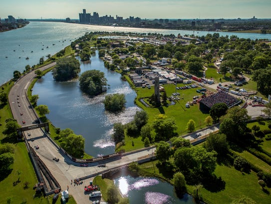 The Grand Prix showcases the beauty of Belle Isle and