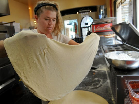 Katelyn Zalenak, a pizza maker at Parma Pizzeria Napoletana