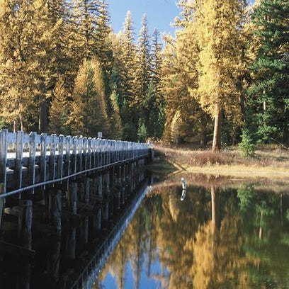 Seeley Lake in fall.
