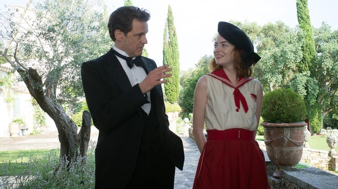 Colin Firth as Stanley and Emma Stone as Sophie try to make some magic.