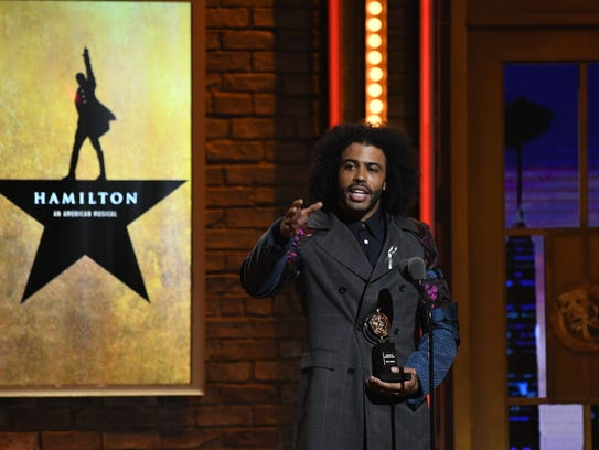 Daveed Diggs of 'Hamilton' accepts the Featured Actor