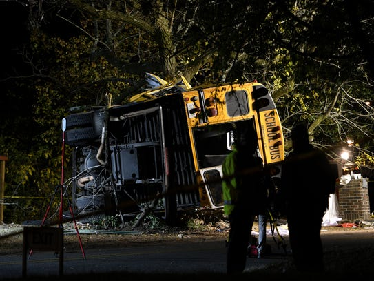 A bus carrying 35 children crashed into a tree in Chattanooga